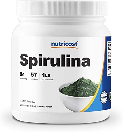 1. Nutricost Spirulina Powder 454 Grams (1LB) - 8000mg Per Serving, 57 Servings