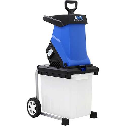7. AAVIX AGT308 Electric Chipper & Shredder, Blue