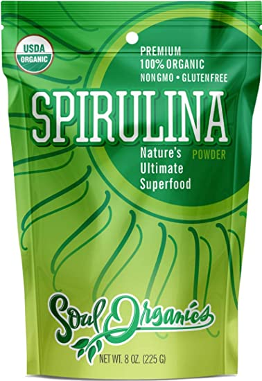 7. Organic Spirulina Powder - USDA Organic Certified - Premium Blue Green Algae Powder for Natural Energy and Nutrition