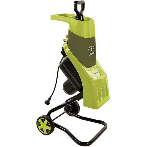 1. Sun Joe CJ602E 15-Amp Electric Wood Chipper/Shredder, Green