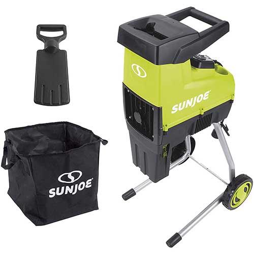 2. Sun Joe CJ603E 15-Amp 1.7-Inch Cutting Diameter Electric Silent Wood Chipper/Shredder, green