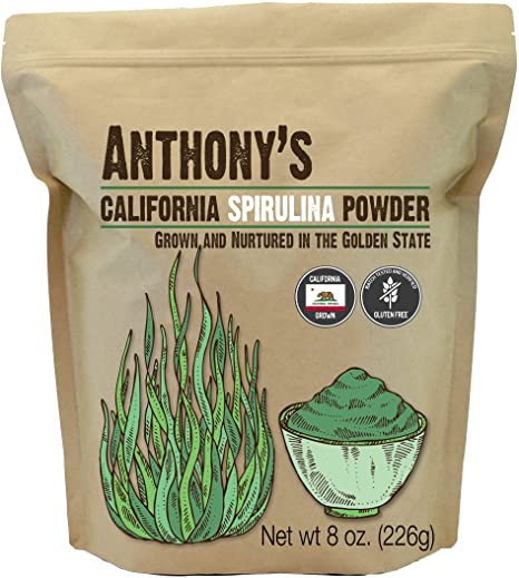 4. Anthony's California Spirulina Powder, 8 oz, Product of USA, Gluten Free, Non GMO