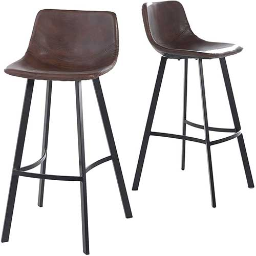 9. Christopher Knight Home Dax Barstools, 2-Pcs Set, Snake Skin Brown