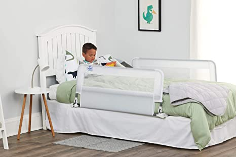 9. RegaloHideAway Double Sided Bed Rail Guard, with Reinforced Anchor Safety System