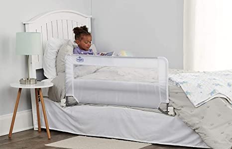 1. Regalo Swing Down Bed Rail Guard, with Reinforced Anchor Safety System