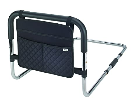 8. Juvo Products BSR101 Bed Safety Rail & Caddy