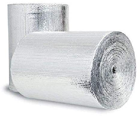 1. Double Bubble Reflective Foil Insulation: (4 X 50 Ft Roll) Industrial Strength, Commercial Grade, No Tear, Radiant Barrier Wrap