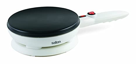 4. Salton Cordless Electric Crepe Maker With Bonus Batter Dish and Spatula with Non-Stick Cooking Surface, Automatic Temperature Control