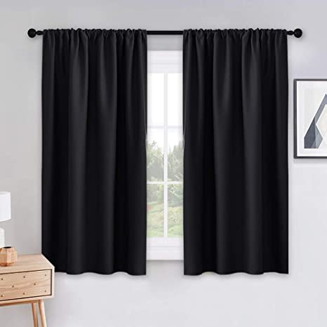 7. PONY DANCE Bedroom Blackout Curtains - Light Block Solid Soft Rod Pocket Energy Efficient Thermal Insulated Blackout Curtain Panels/Window Drapes