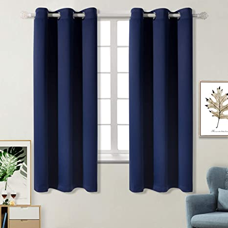 1. BGment Blackout Curtains for Bedroom - Grommet Thermal Insulated Room Darkening Curtains for Living Room, Set of 2 Panels