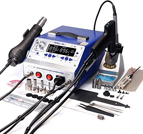 1. YIHUA 948-II 4 in 1 Hot Air Rework Soldering Iron and Desoldering Suction Tin Gun Station