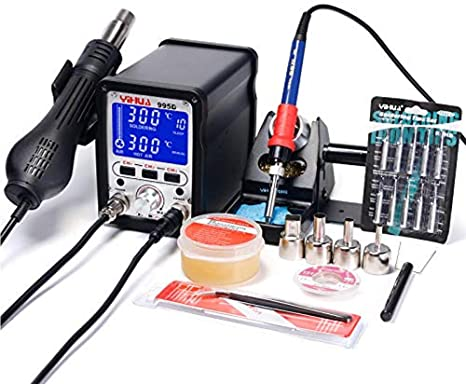 5. MMOBIEL YiHua 995D 2 in 1 Soldering Station iron 75W Hot Air Blower Rework Station 720W Hot Air