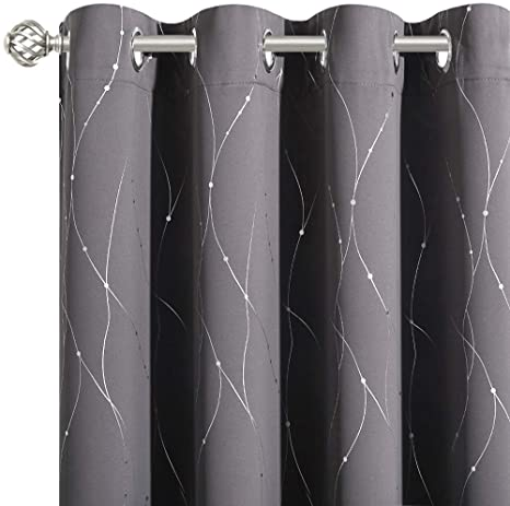 10. NICETOWN Bedroom Blackout Curtains Panels - Window Treatment Thermal Insulated Solid Grommet Blackout for Living Room