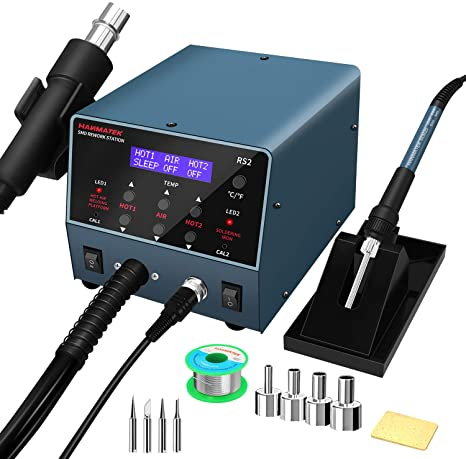 4. Durable 2 in 1 Hot Air Rework Gun Station and Soldering Iron Station 800W