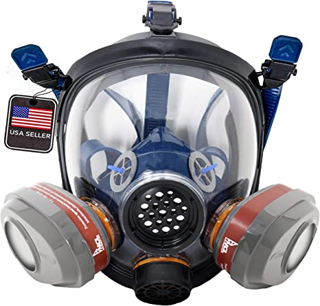 3. PT-101 Full Face Gas Mask & Organic Vapor Respirator- ASTM Tested - 1 Year Full Manufacturer Warranty