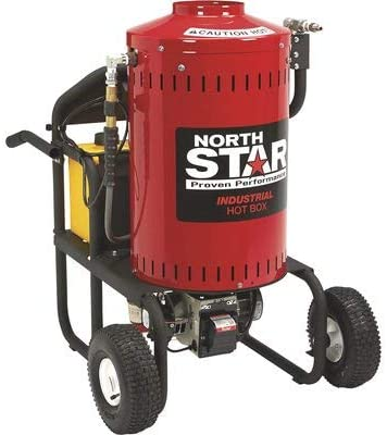 1. Northstar Electric Wet Steam Cleaner and Hot Water Commercial Pressure Power Washer Add-on Unit - 4000 PSI, 4 GPM