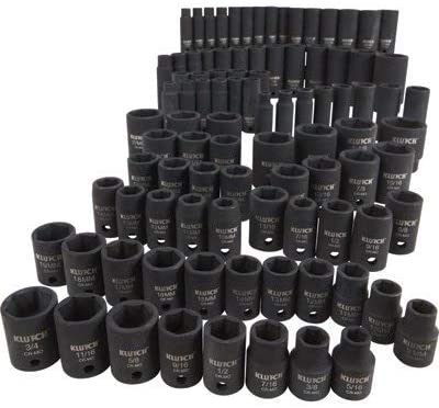 6. Klutch Impact Socket Set - 94-Pc. 3/8in. - and 1/2in.-Drive