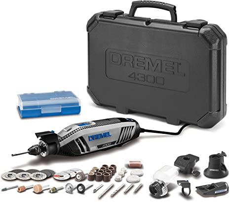 2. Dremel 4300-5/40 High Performance Rotary Tool Kit with LED Light- 5 Attachments & 40 Accessories- Engraver, Sander, and Polisher