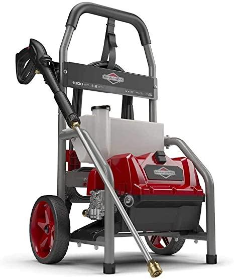 2. Briggs & Stratton 20680 Electric Pressure Washer, 1800 PSI, 1.2 GPM, Red/Gray/Titanium