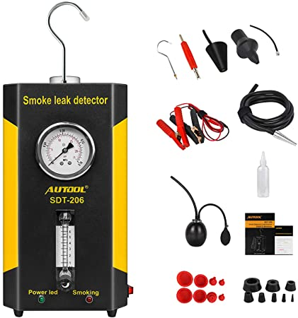 8. AUTOOL SDT-206 EVAP Leak Detector, 12V Automotive Pipe Fuel Leakage Tester Diagnostic Machine Support Pipe Systems/Motorcycle/Cars/SUVs/