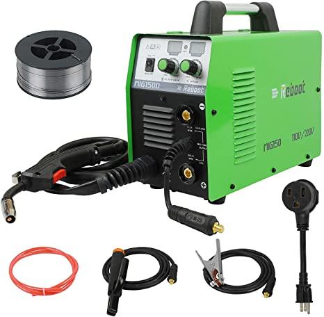 9. MIG Welder Flux Core 110V/220V Reboot MIG150 Gas/Gasless Stick Mig Welding Machine Dual Voltage 150 Amps 2 in 1 Flux Core