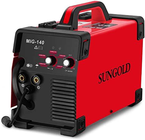 5. SUNGOLDPOWER MIG Welder 140A Gas and Gasless Welding 110/220V Dual Voltage IGBT DC Inverter Welding Machine Including Flux Cored Wire