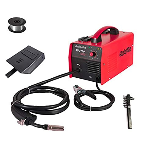 8. Display4top Portable No Gas MIG 130 Plus Welder Flux Core Wire Automatic Feed Welding Machine,DIY Home Welder w/Free Mask - 110V