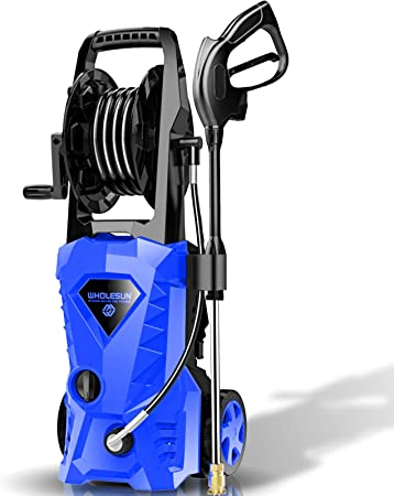 10. WHOLESUN 3000PSI Electric Pressure Washer 2.4GPM Power Washer 1600W High Pressure Cleaner Machine with 4 Nozzles Foam Cannon