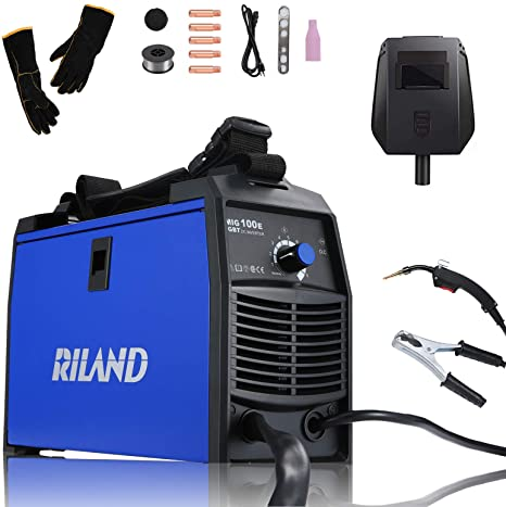 6. RILAND MIG Welder 110v, MIG Welding Machine, Automatic Wire Feed Welder, Flux Cored Welder with DIY Home Portable Welder Accessories
