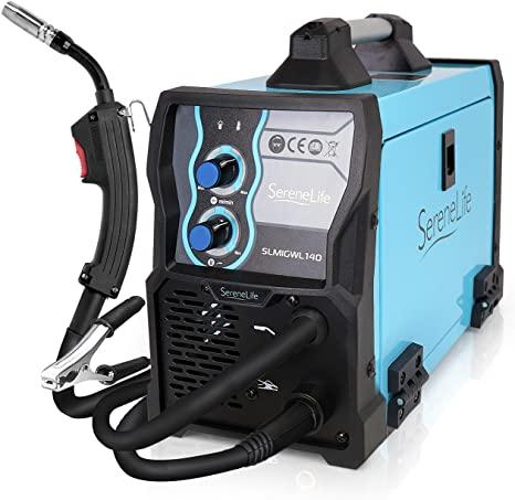 10. gSereneLife Inverter MIG Welding Machine - Dual Voltage 110/220v, Gas Option, 130 Amp MIG Inverter Welder w/Adjustable Speed