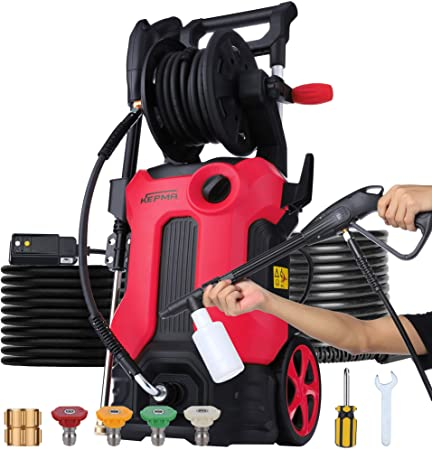 9. Electric Pressure Washer 3800 PSI 2.8 GPM Power Washer Deliver Up to 10000+ Cleaning Units, Soap Bottle and 4 Nozzles