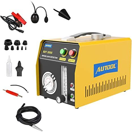4. AUTOOL EVAP Smoke Leakage Detector SDT 205S Fuel Leakage Diagnostic Detector Dual Modes Smoke Machine 12VDC Fuel Pipe Leak Tester