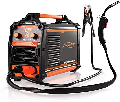 4. MIG Welder 160Amp Flux Core Welding Machine No Gas 110V Wire Automatic Feed Easy Welding for welder Beginners