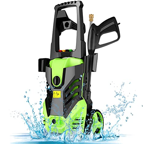 4. Homdox Electric High Pressure Washer, 2950PSI 1.7GPM Max Power Pressure Washer Machine 1800W with 5 Quick-Connect Spray Tips